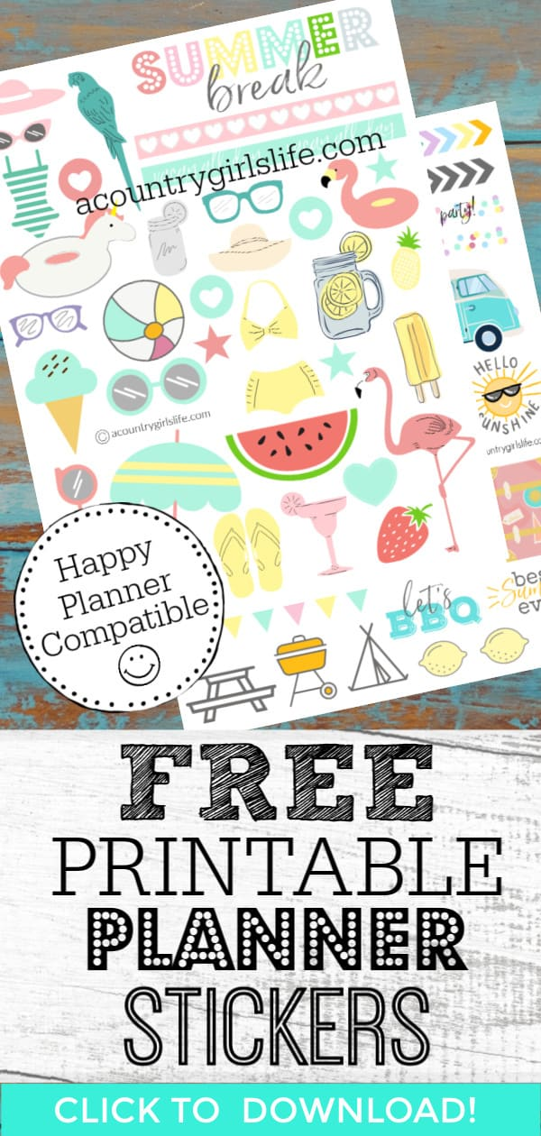 image regarding Happy Planner Free Printable Stickers identified as Free of charge Printable Planner Stickers for Your Delighted Planner - A