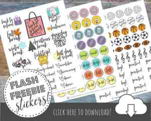 FREE Printable Back to School Planner Stickers