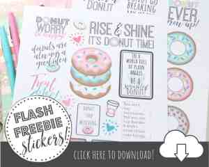 FREE Printable Planner Stickers for Donut Lovers!