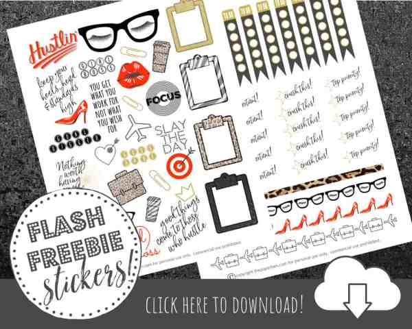 Free Planner Stickers to Inspire the Girl Boss in us all!