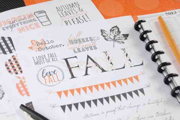 free printable fall planner stickers