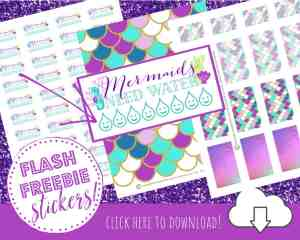 FREE Mermaid Planner Stickers for the Happy Planner