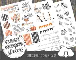 Free Printable Fall Planner Stickers for Your Happy Planner!