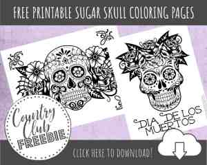 FREE Sugar Skull Coloring Pages to Spark Your Creativity!