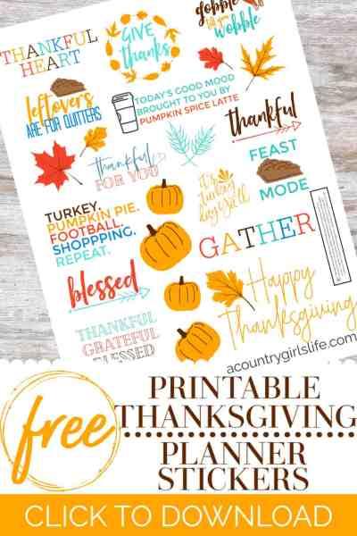 free printable thanksgiving stickers