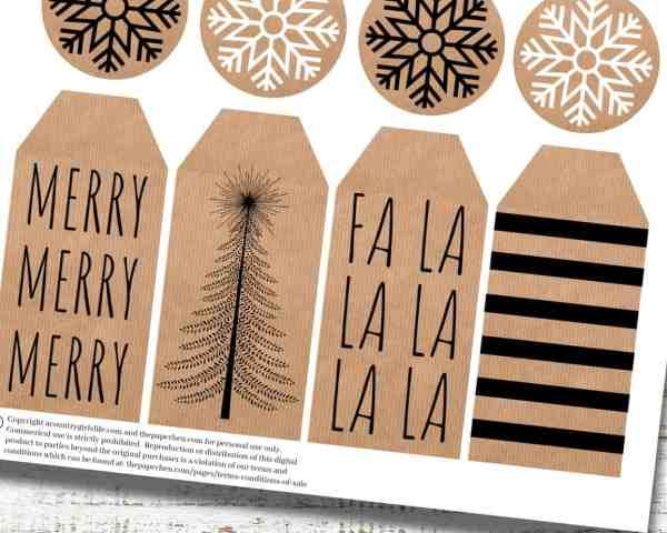 farmhouse style printable gift tags