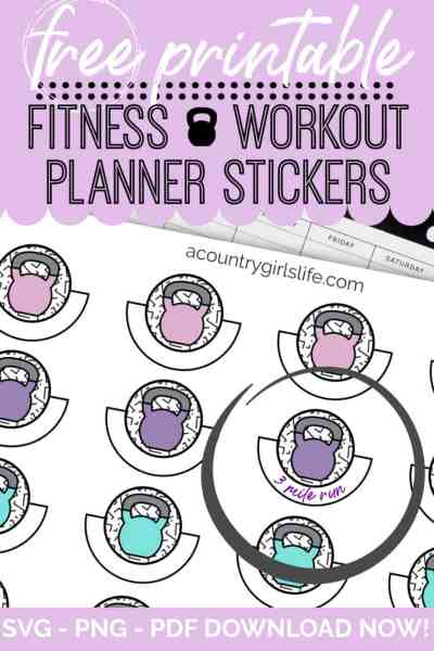free printable fitness planner stickers