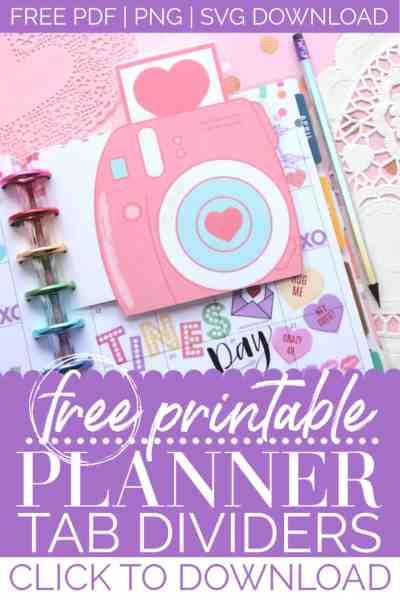 DIY planner tabs