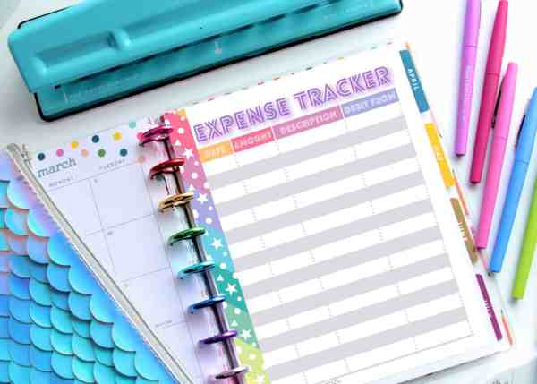happy planner budget printables
