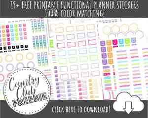 19+ FREE Functional Planner Stickers for Rocking Your Layout!