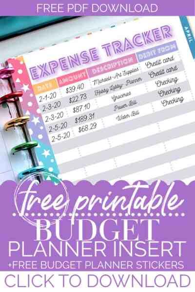 happy planner budget printables