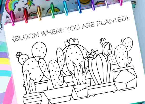 free printable habit tracker coloring pages for planners