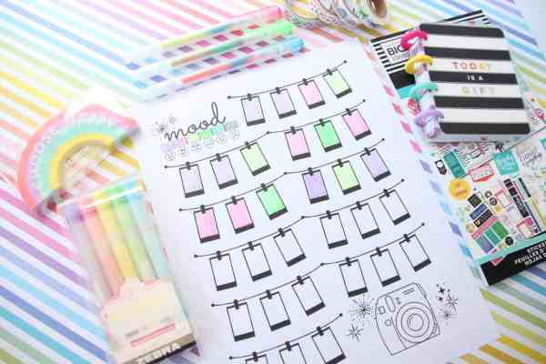 FREE Printable Mood Tracker for your Planner or Bullet Journal