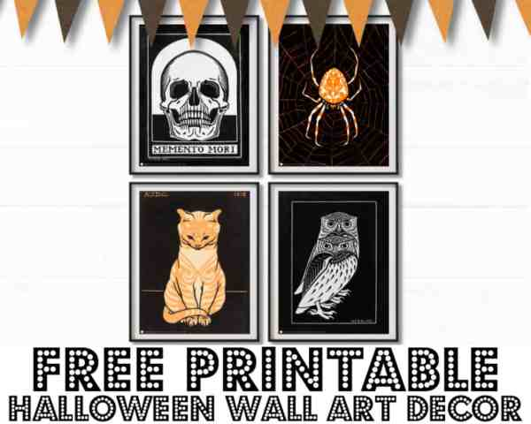 FREE Printable Halloween Wall Art & Decorations {DIY}