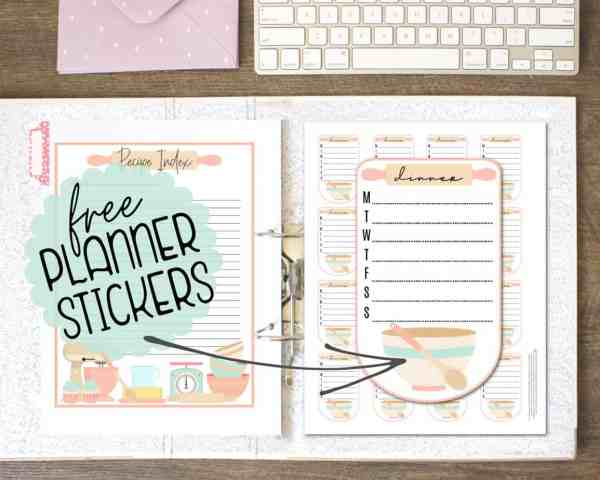 recipe binder printables and templates for making a DIY recipe binder or cookbook
