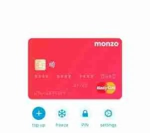 MONZO TRAVEL CARD