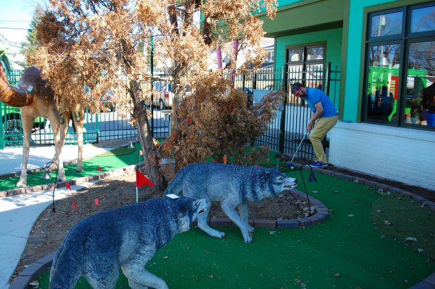 At hole 7, you have to battle with the wolves.