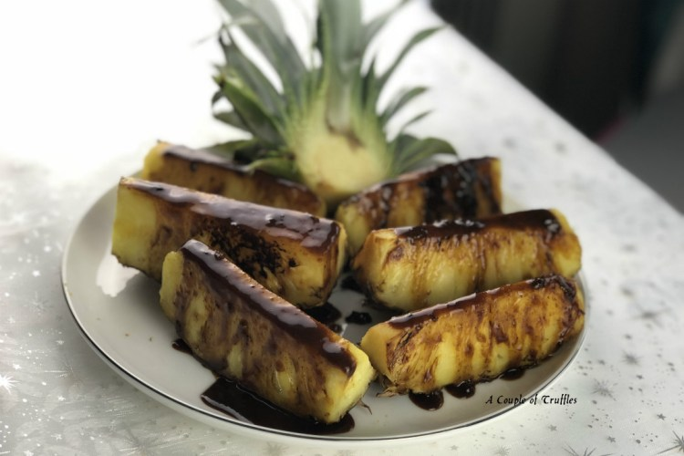 Baharatlı Karamel Soslu Izgara Ananas