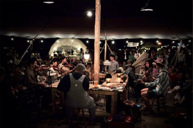 Irish music party at the Acoustic Village