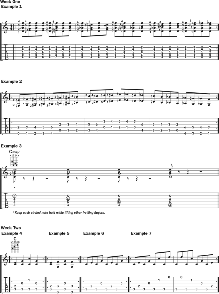 Acoustic Guitar Weekly Workout september-october issue notation 1