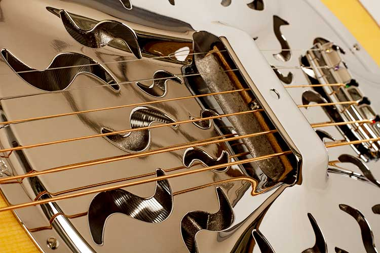 Beard A-Model Odyssey acoustic guitar resonator closeup