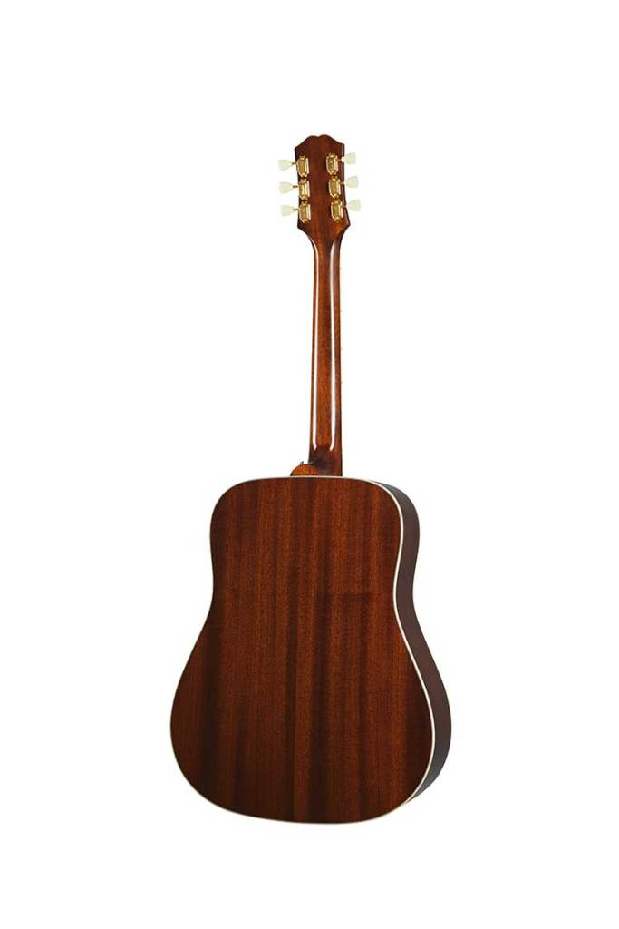 Epiphone Inspired by Gibson Hummingbird acoustic mahogany guitar back