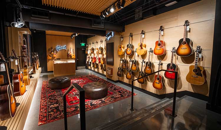 The Acoustic Room in the sprawling new Gibson Garage retail space in downtown Nashville