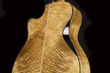 Cort Gold-Edge acoustic guitar flamed myrtlewood back and sides and triple bevel cut