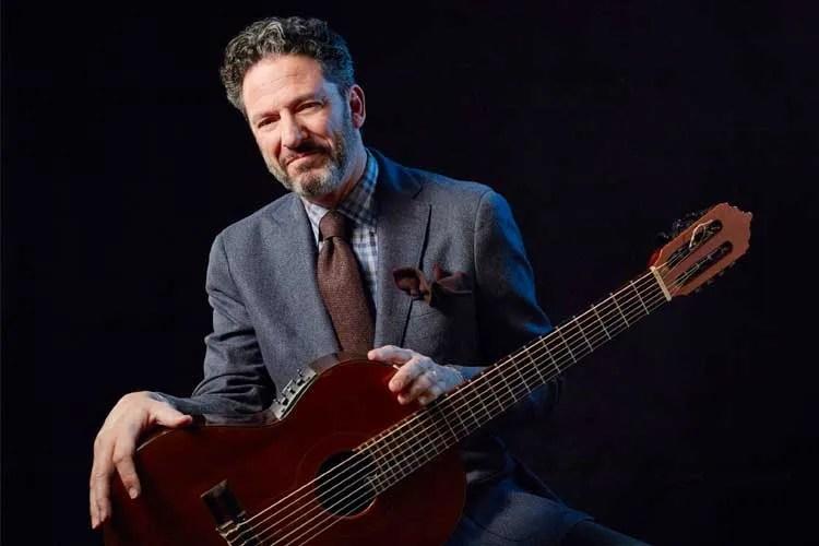 John Pizzarelli with acousticguitar