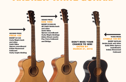 Andrew White Guitars Giveaway - Enter to win 1 of 3 guitars