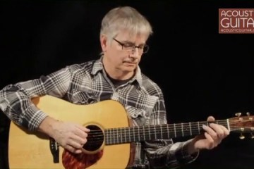 scott nygaard demonstrating melodics on his acoustic guitar