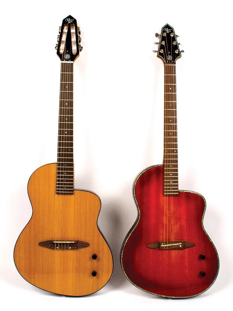 Nylon-string N6 (left) and steel-string S6