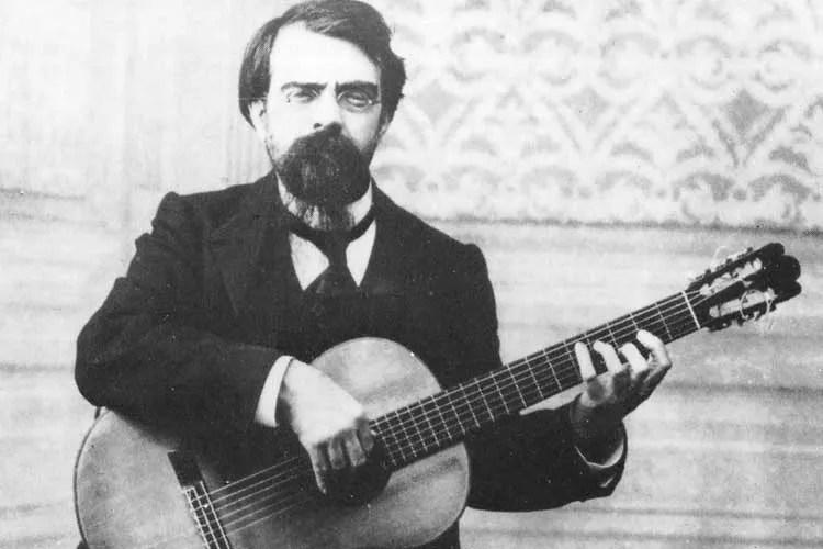 Francisco Tárrega with classical guitar