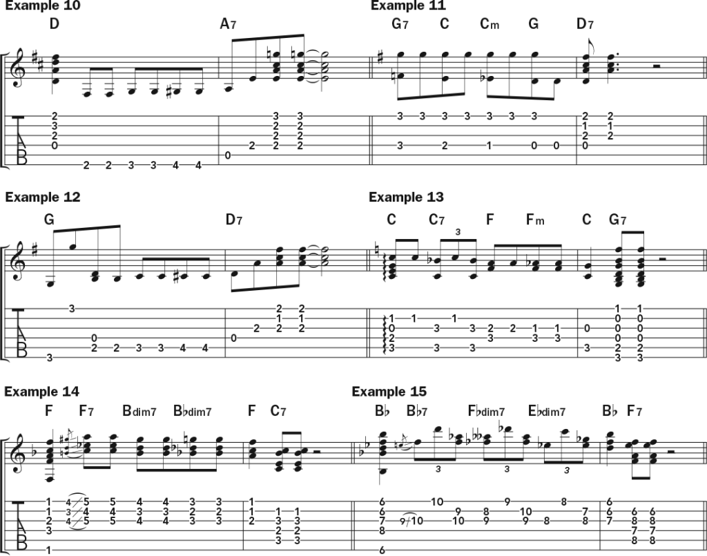 blues turnaround guitar lesson musical examples pt. 1