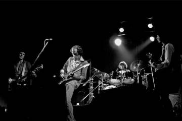 Dire Straits (L-R): John Illsley, Mark Knopfler, Pick Withers, David Knopfler