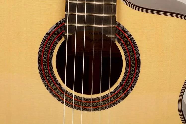 New World Guitars P640S FS Nylon-String Guitar soundhole