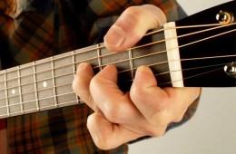 alt F-chord on acoustic guitar
