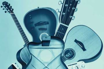 collage of guitar gear advances in technology