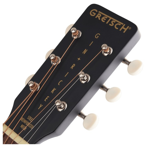 Gretsch G9520E Gin Rickey parlor guitar headstock