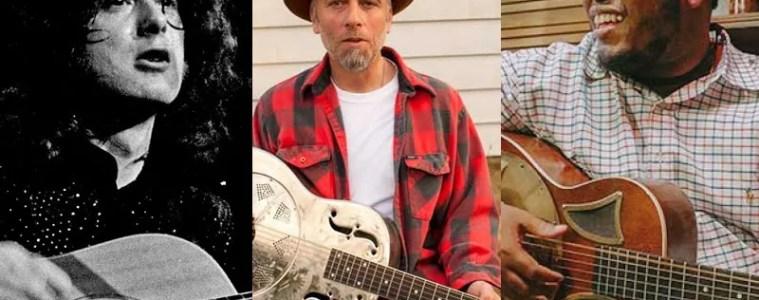 Guitarists Jimmy Page, Kelly Joe Phelps, and Jontavious Willis