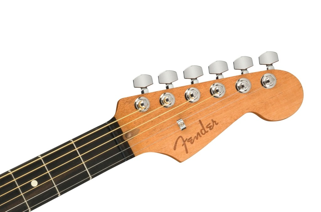 Headstock of the Fender Acoustasonic Jazzmaster