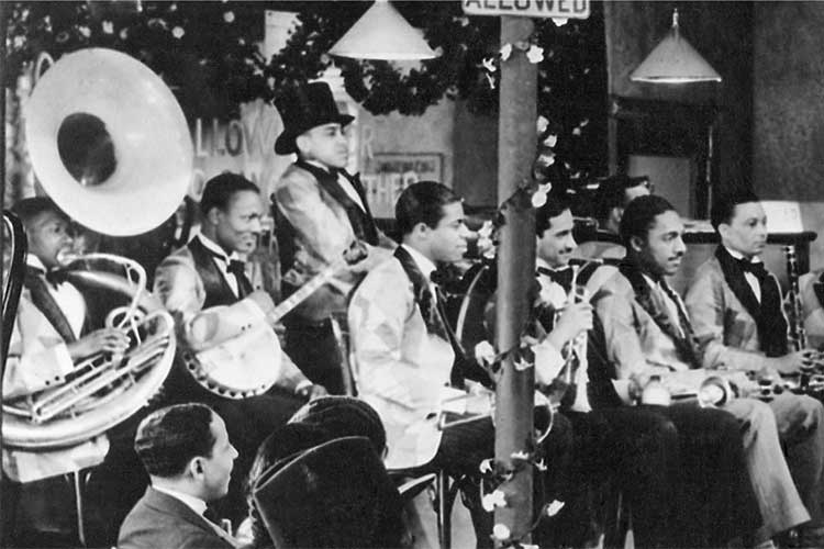 John Trueheart (on banjo) with Chick Webb's band, From After Seben, 1929