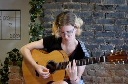 kate koenig female guitarist acoustic chord lesson