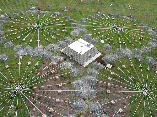 Infrasound wavelengths can be so long that huge setups are needed to measure them. Photo credit: CTBTO.