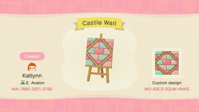 Castle Wall Animal Crossing Pattern Gallery Custom Designs