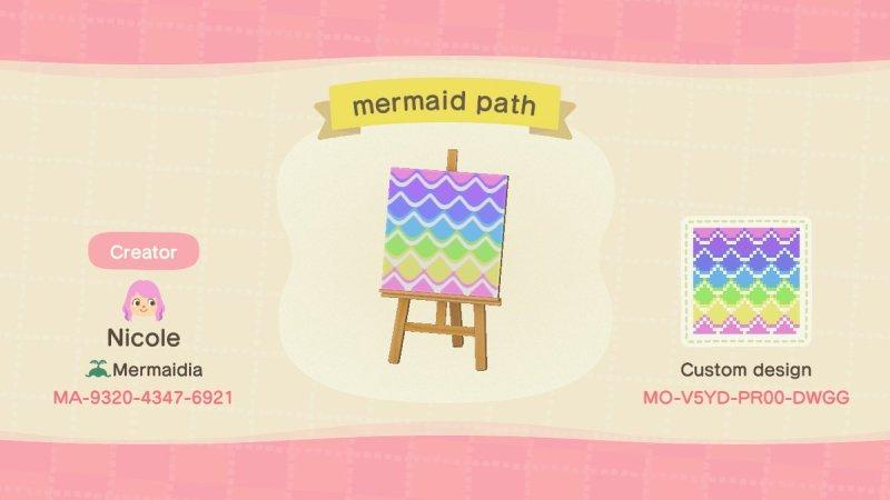 Mermaid Animal Crossing Pattern Gallery Custom Designs