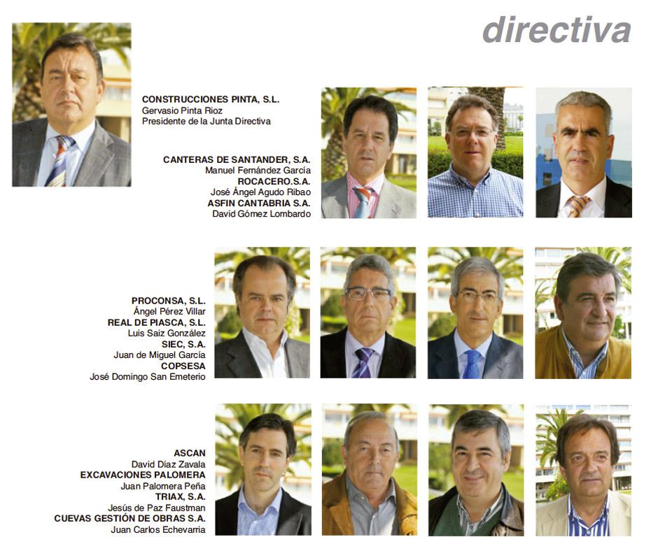 Junta directiva de la Asociación de Constructores y Promotores de Cantabria
