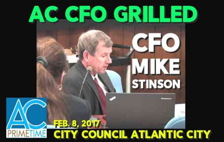 CFO Stinson Grilled by Atlantic City Council, Dept. Expenses Questioned.