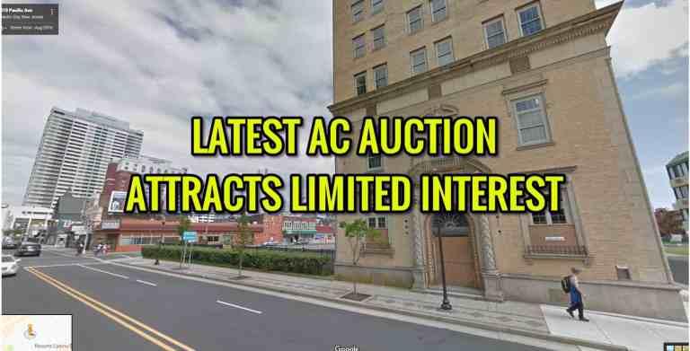 Mixed Interest in Recent Atlantic City Property Auction. Minor Bidding War.