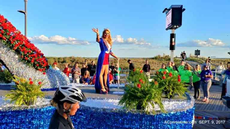 Miss America Parade on Atlantic City Boardwalk